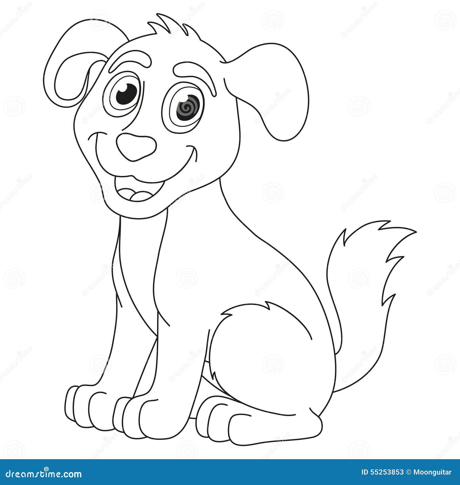 Cartoon Puppy Vector Illustration Of Cute Dog