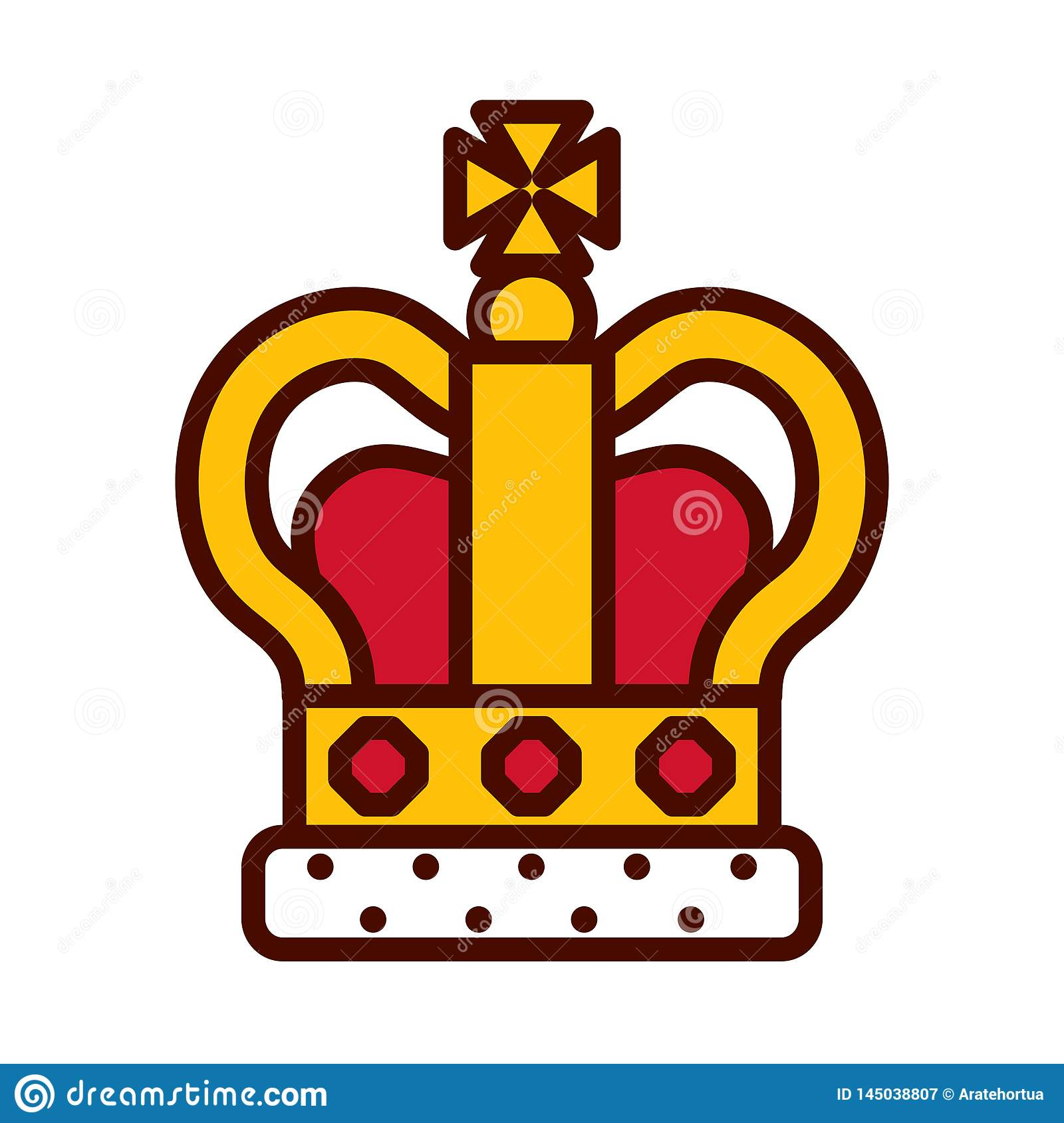Cartoon Queen Crown Icon Isolated Stock Vector Illustration Of Emperor Isolated 145038807 Gold king crown, king and queen crowns, kings crown, crown royal, creation logo png, crown png, princess logo, free logo creator, crown illustration. https www dreamstime com cartoon queen crown icon isolated vector image145038807