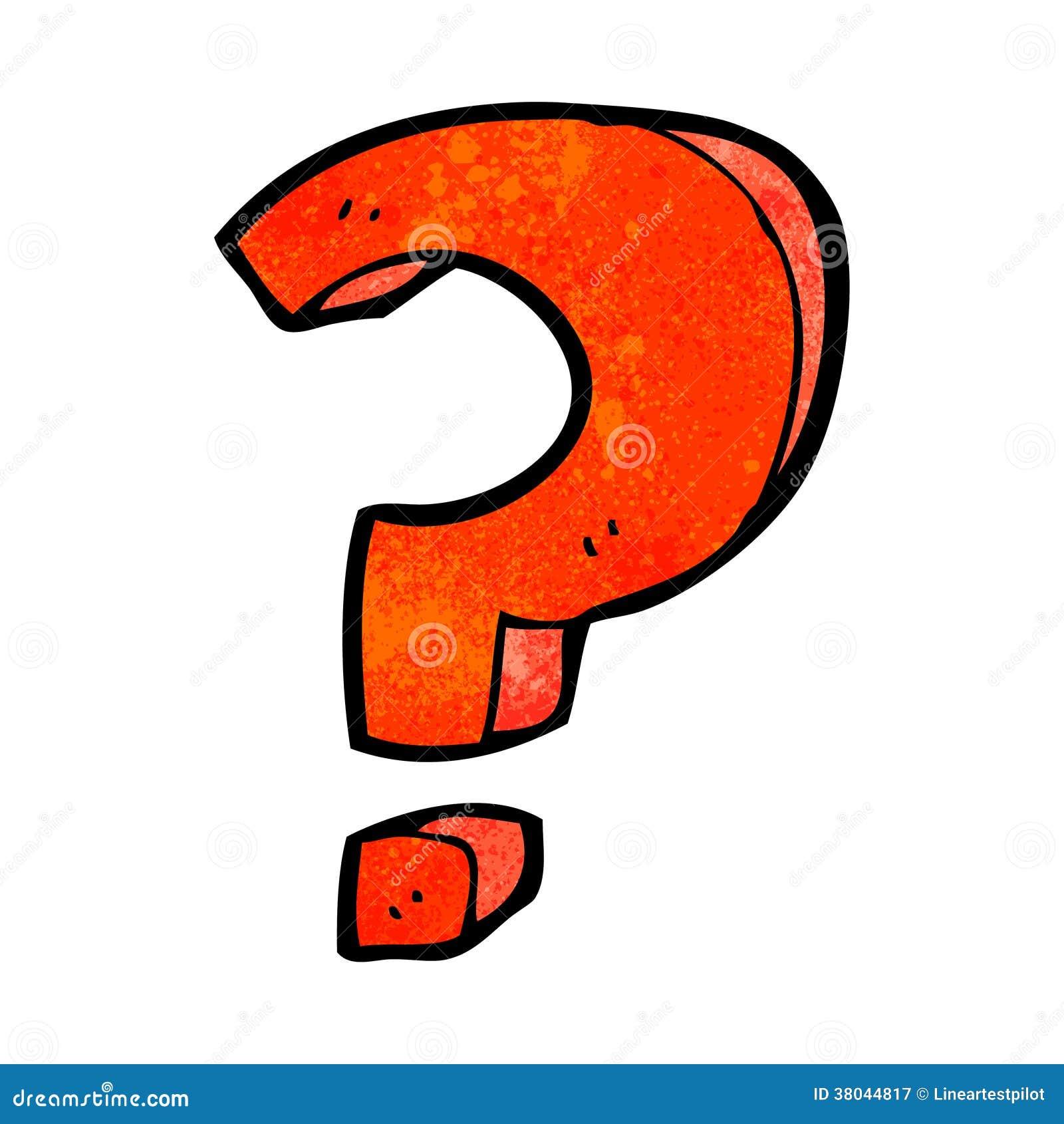 Cartoon Question Mark Stock Vector Illustration Of Hand 38044817