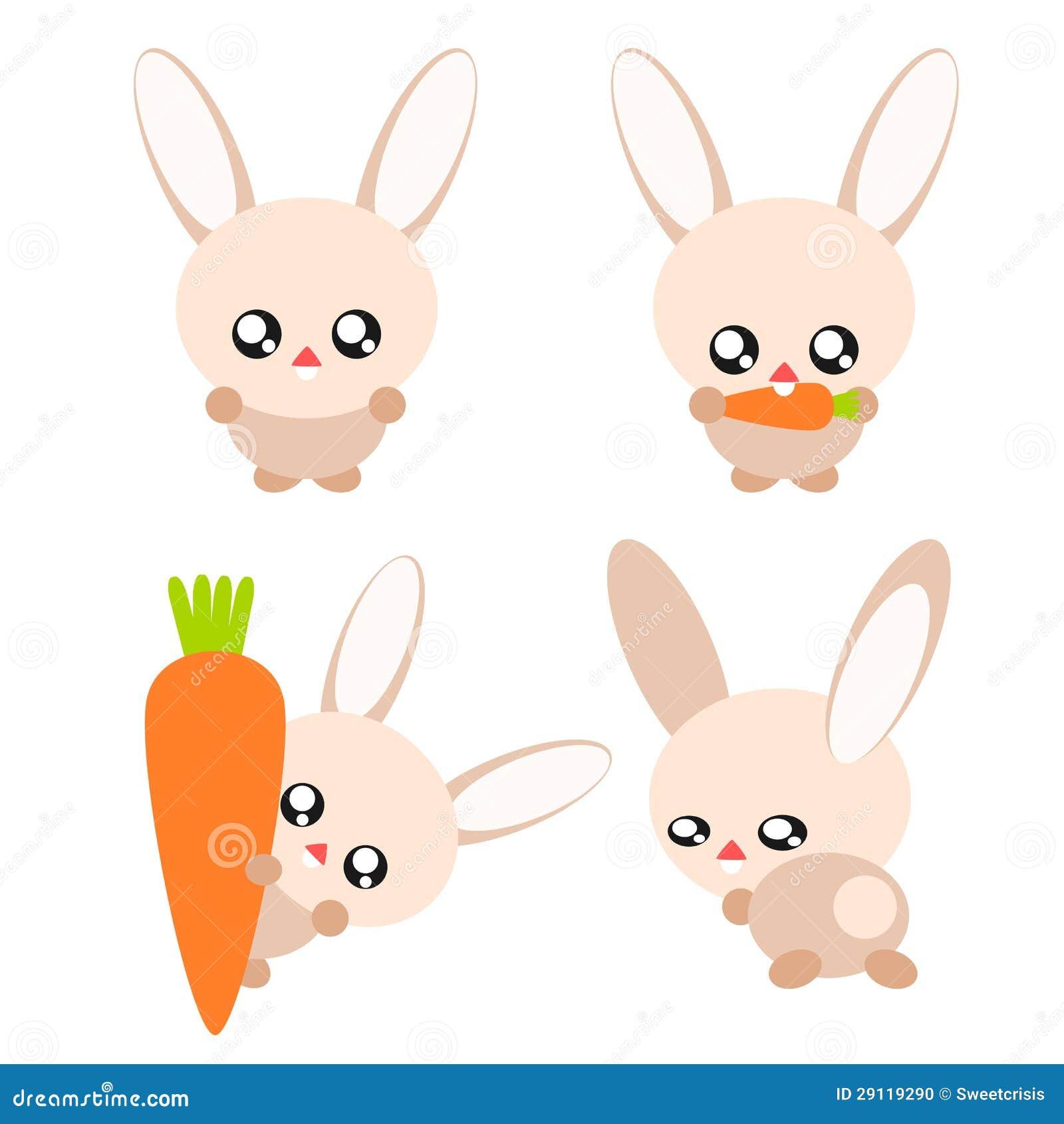 cute rabbit eating a carrot stock vector sbego 14900137