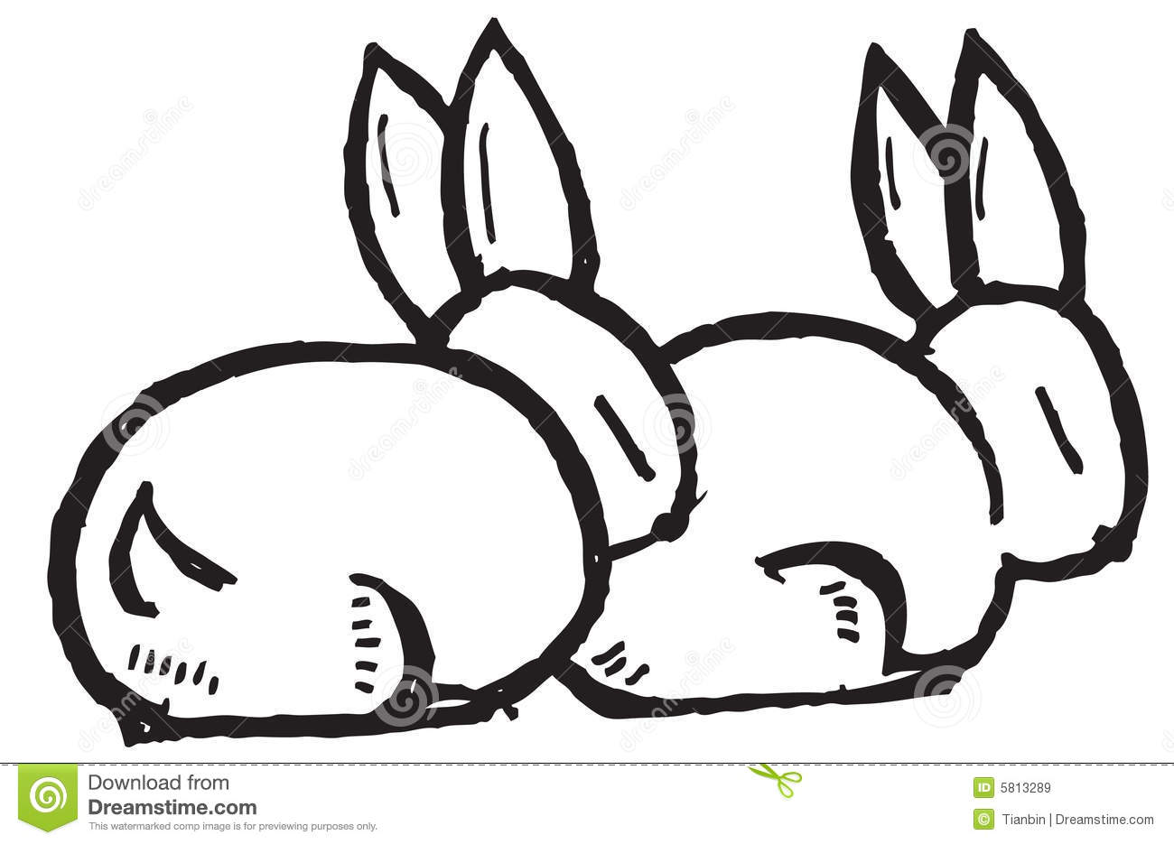 Cartoon Rabbits Stock Vector Illustration Of Carrying 5813289