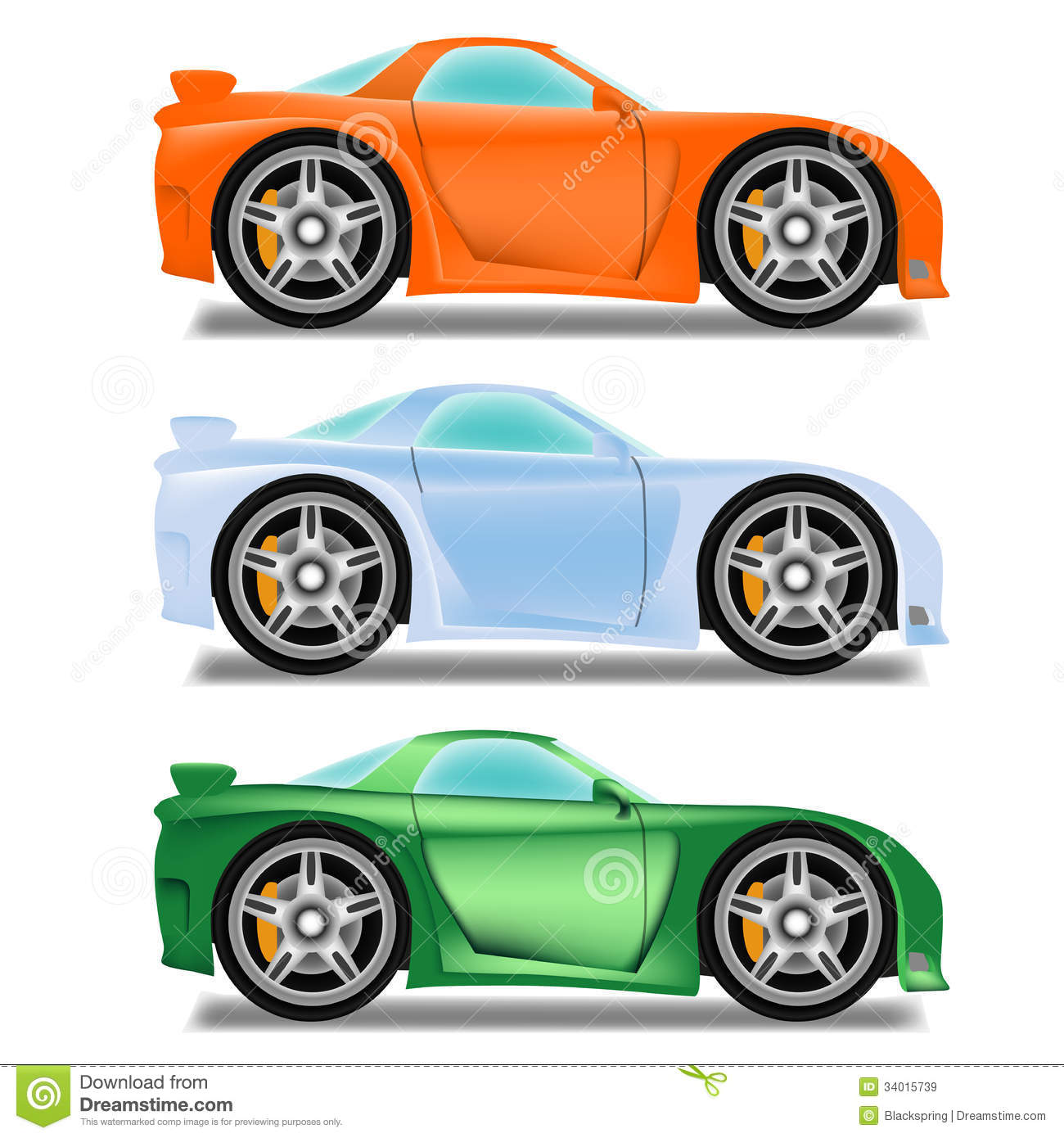Cartoon Race Car With Big Wheels Royalty Free Stock Images Image