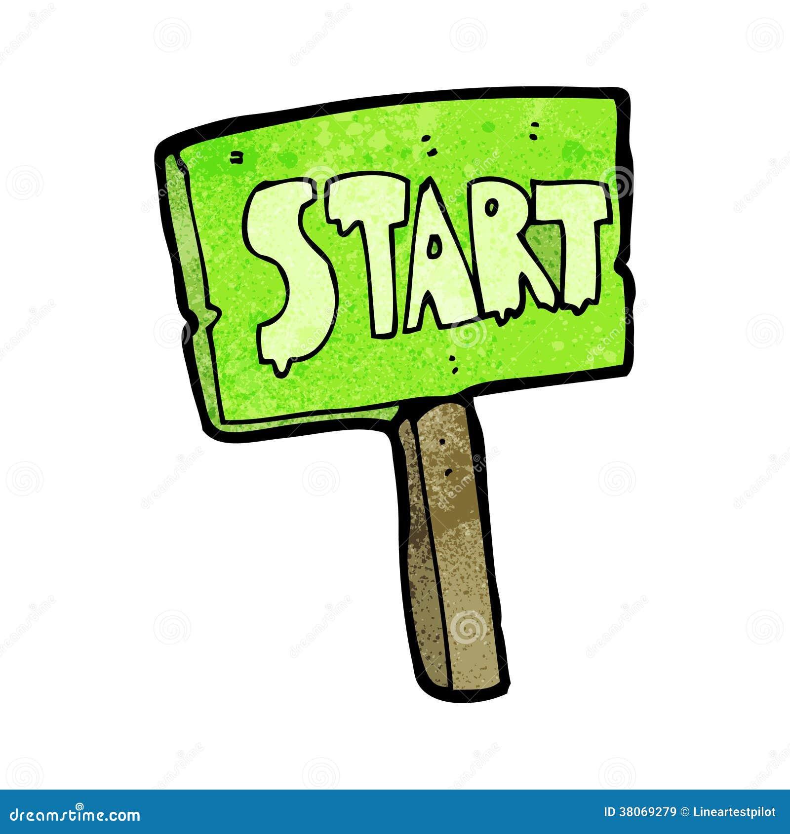 cartoon race start sign stock vector illustration of start 38069279. Black Bedroom Furniture Sets. Home Design Ideas