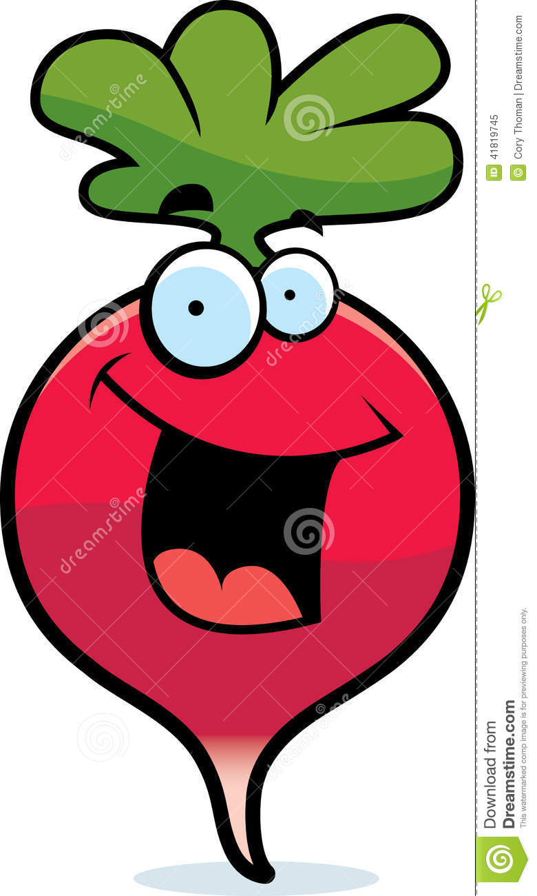 Cartoon Radish Smiling Stock Vector - Image: 41819745