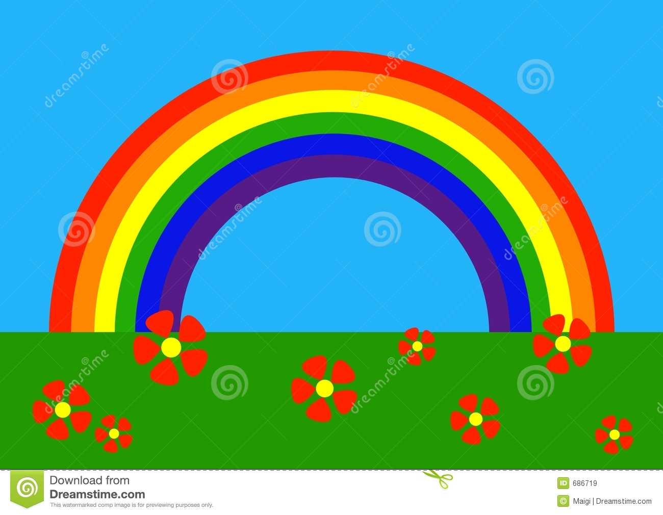 cartoon rainbow royalty free stock images image 686719
