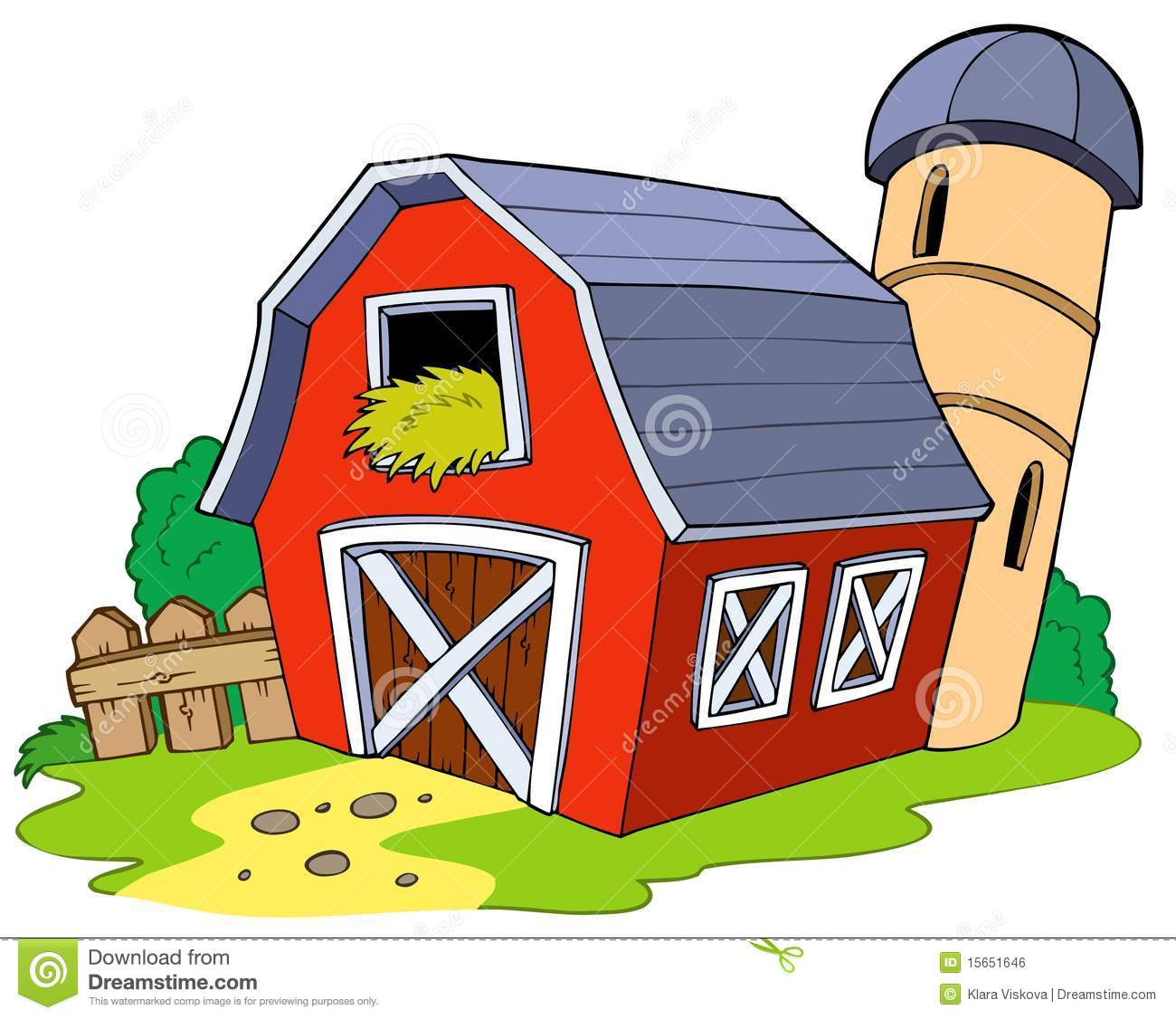 Cartoon Red Barn Royalty Free Stock Image Image 15651646