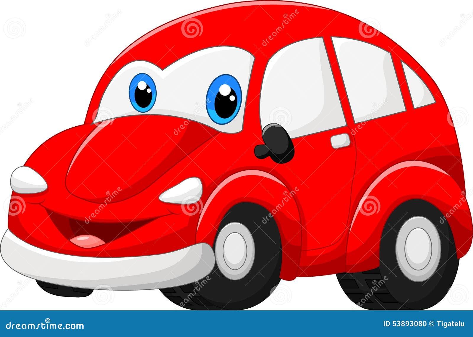 cartoon red car stock vector image 53893080. Black Bedroom Furniture Sets. Home Design Ideas
