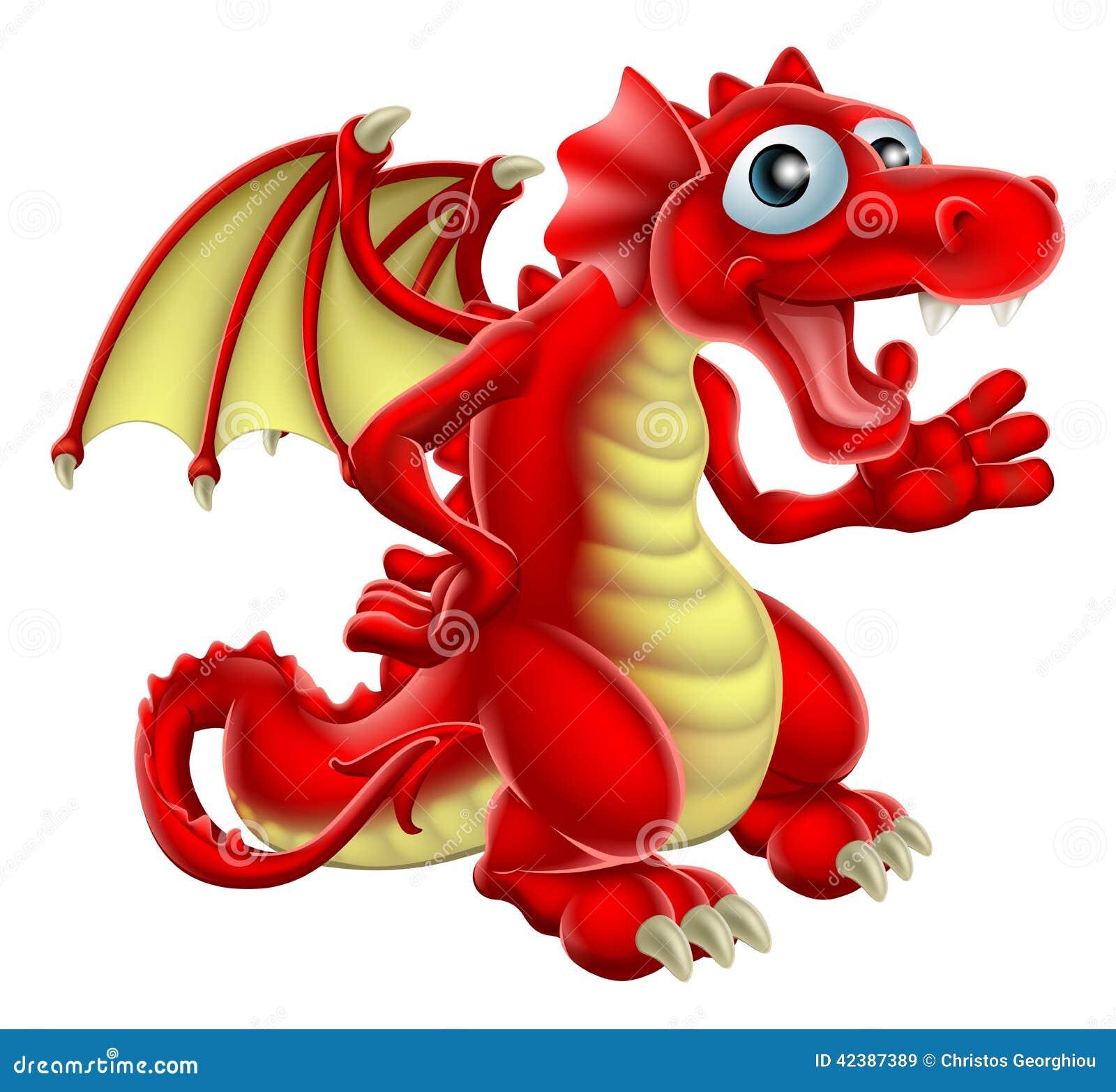 Cartoon Red Dragon Stock Vector - Image: 42387389