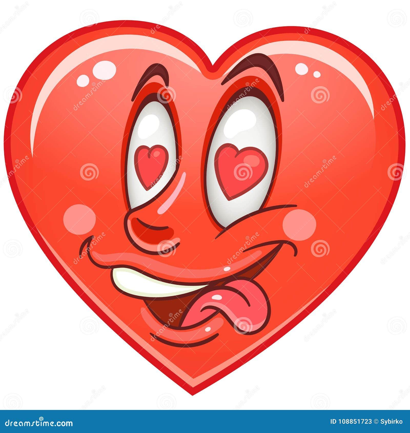 Heart Emoticons Smiley Emoji Stock Vector