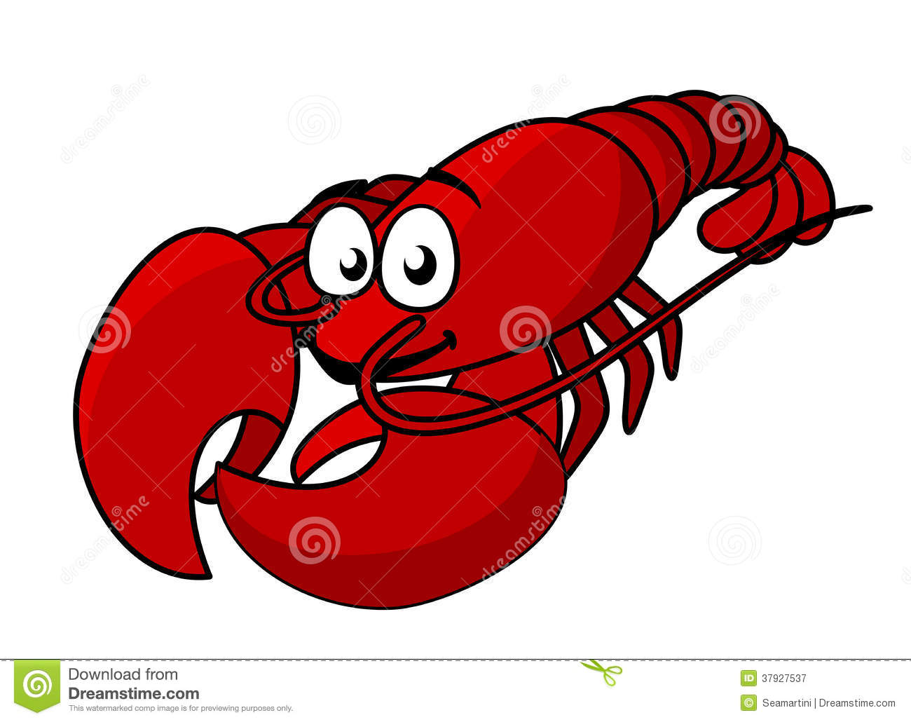 Cartoon Red Lobster Royalty Free Stock Photography - Image: 37927537