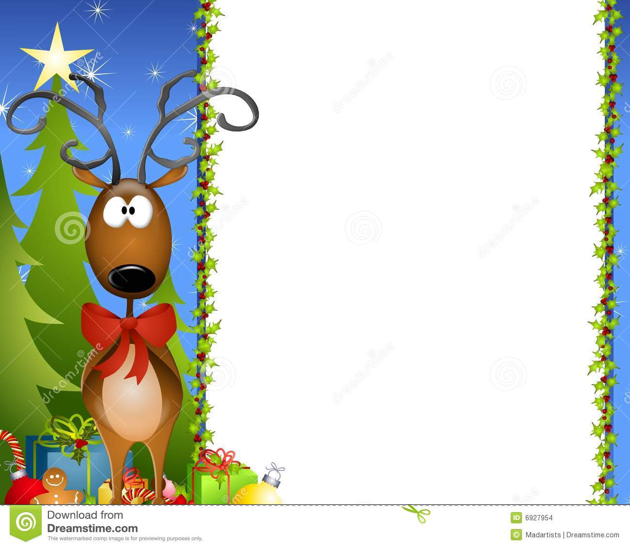 Cartoon Reindeer Border 2 stock illustration. Image of ...