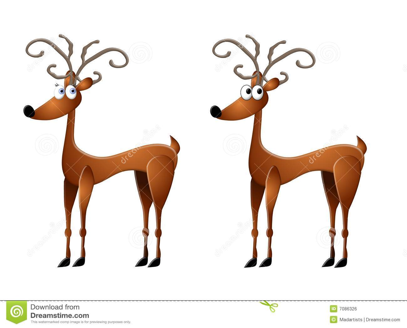 Cartoon Reindeer Clip Art Royalty Free Stock Image - Image: 7086326