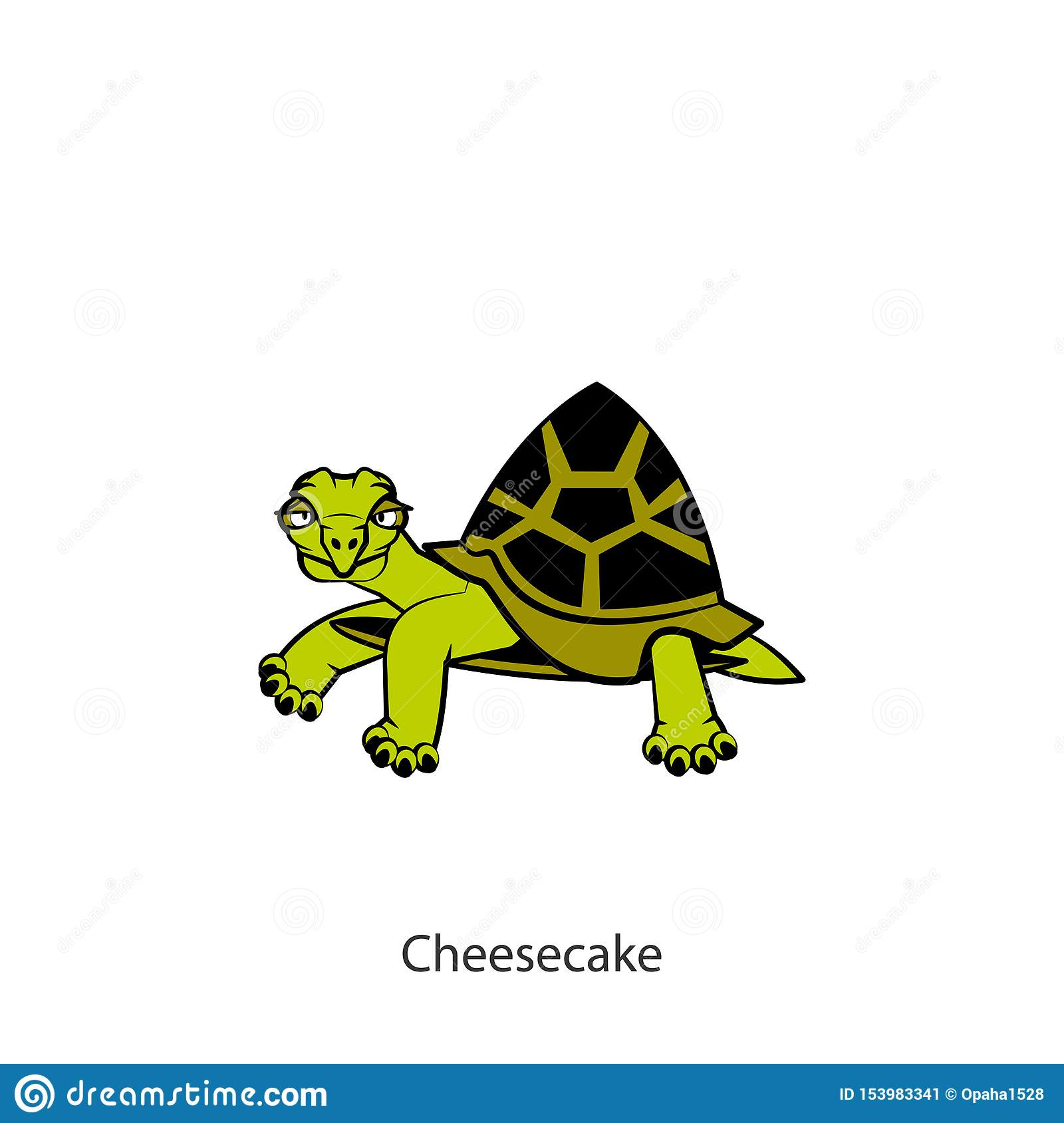 Funny Turtle Color Stock Vector Illustration Of Face 153983341