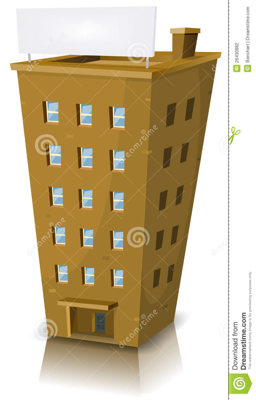Cartoon Residential Building