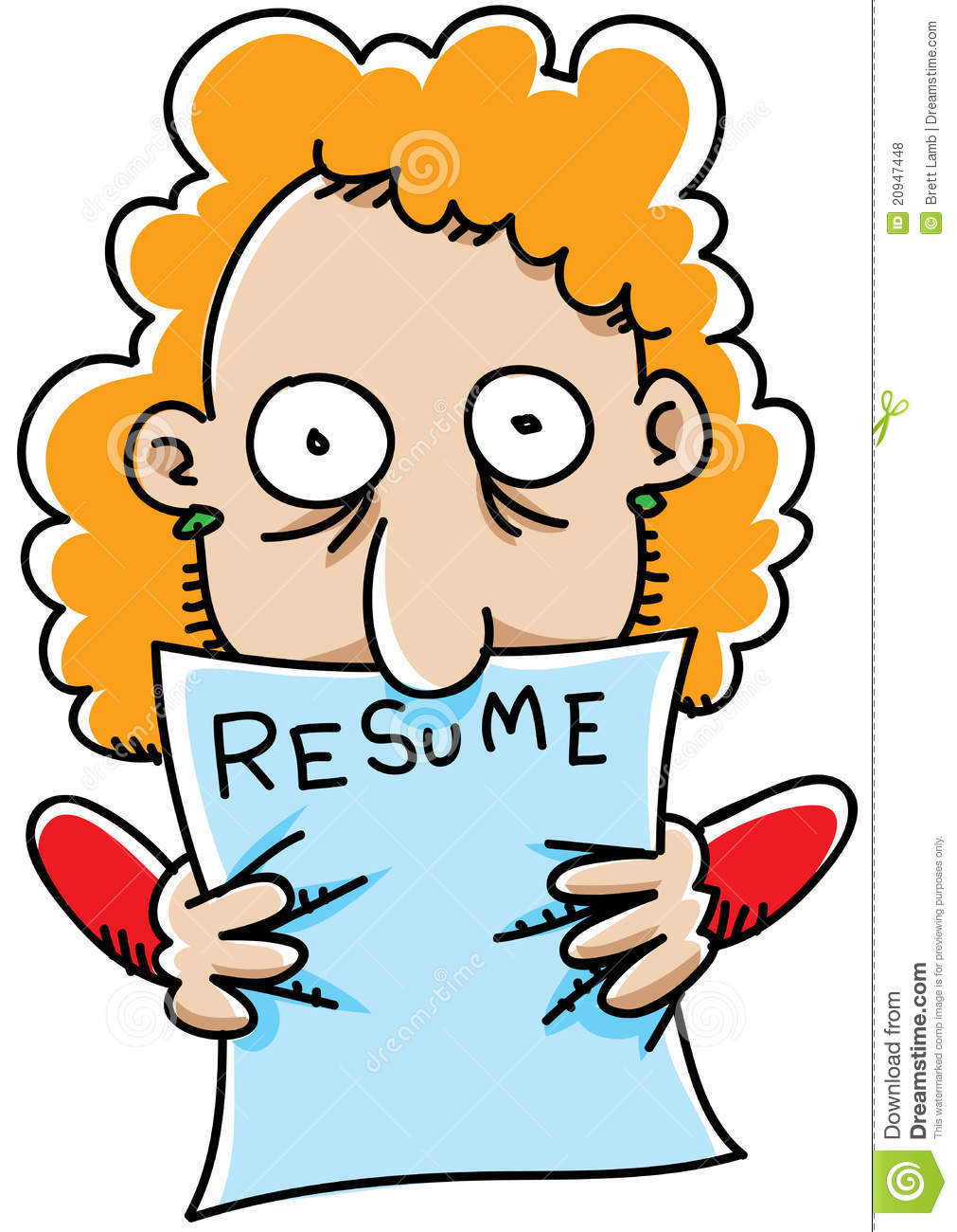 Cartoon Resume Royalty Free Stock Photos - Image: 20947448