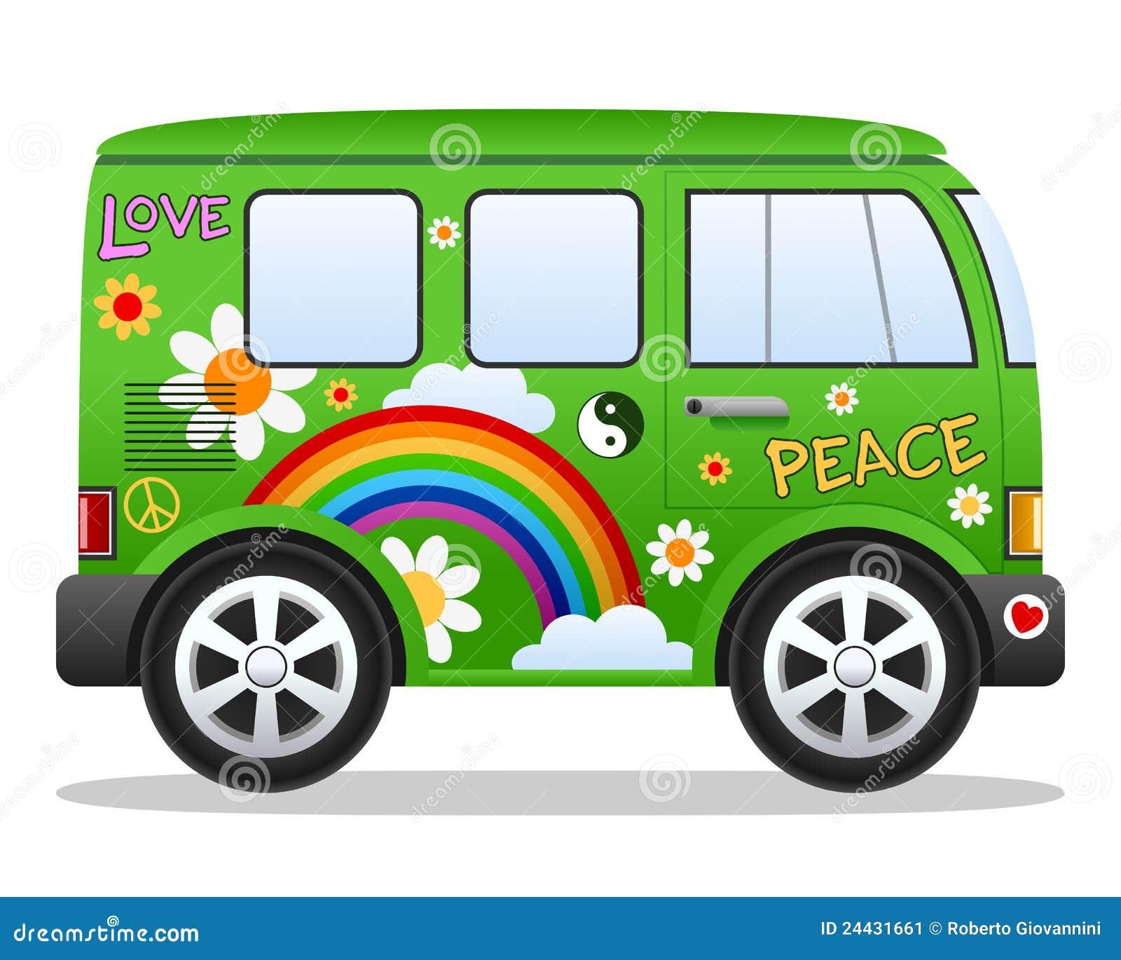 cartoon retro hippie van stock image image 24431661 hippie clipart pin art hippy clip art