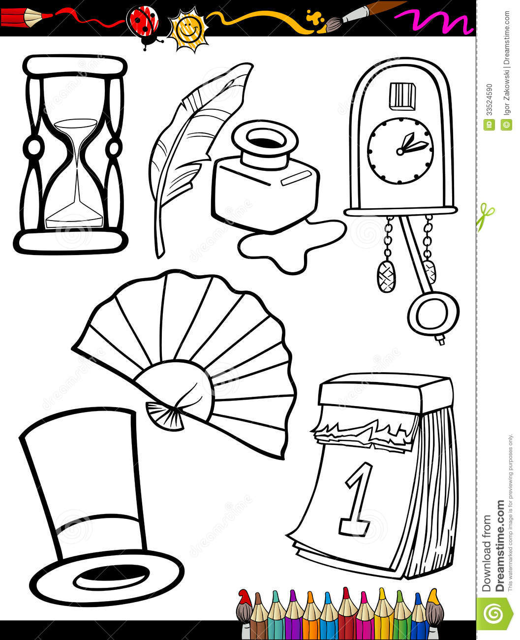 Free Retro Coloring Pages