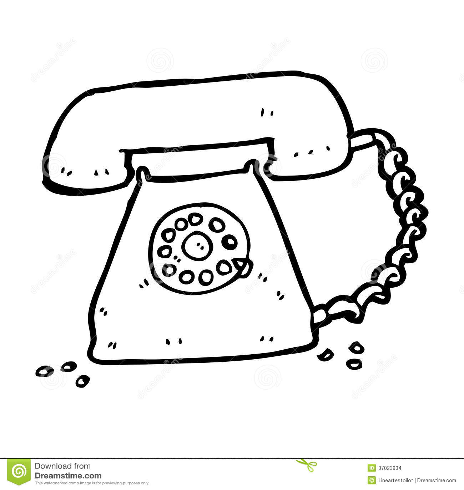 cartoon retro telephone stock images image 37023934