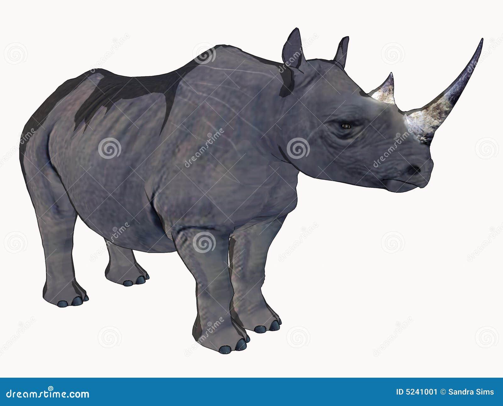 Cartoon rhino computer generated 3 dimensional image