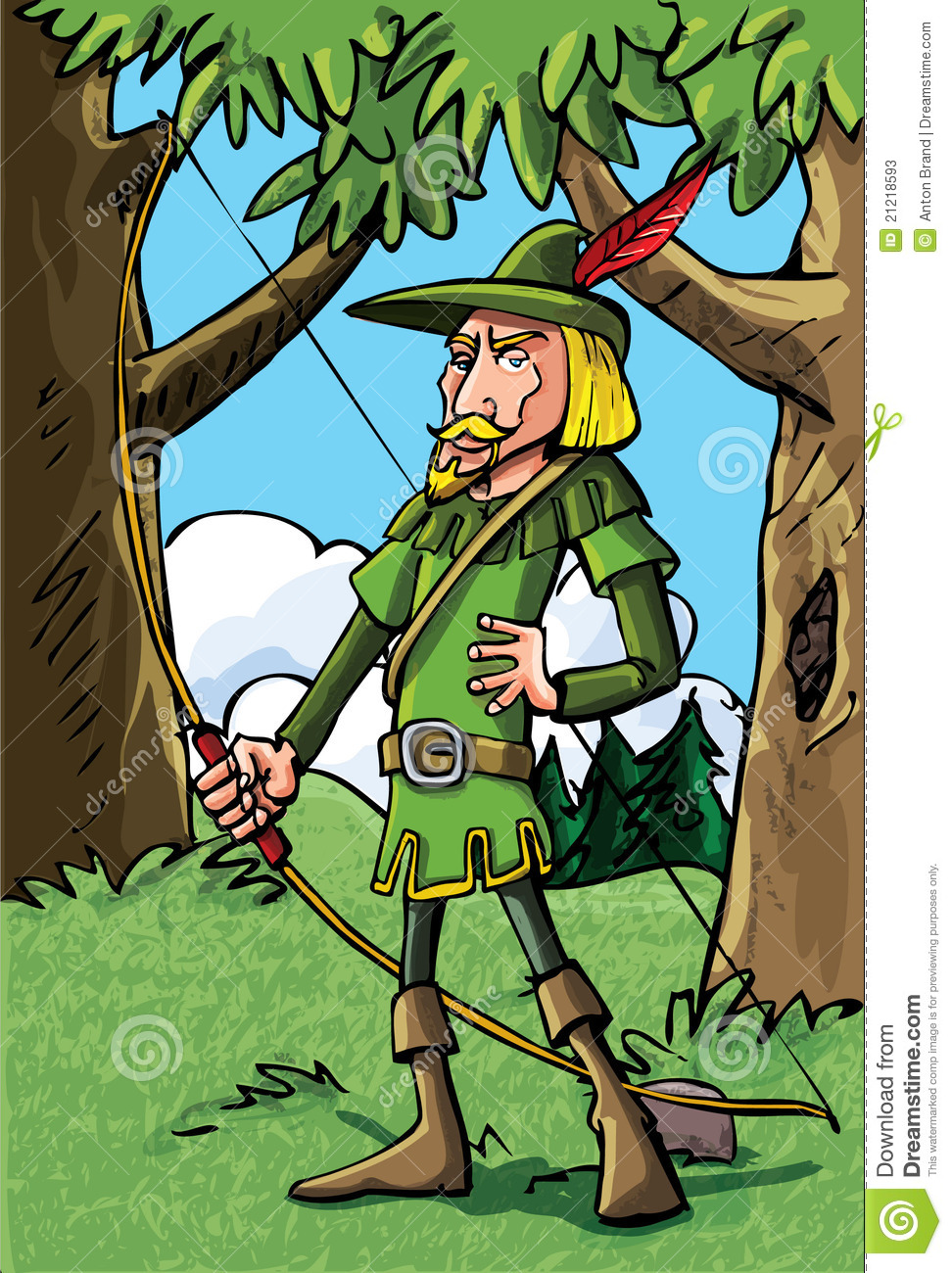 Cartoon Robin Hood In The Woods Stock Photos Image 21218593