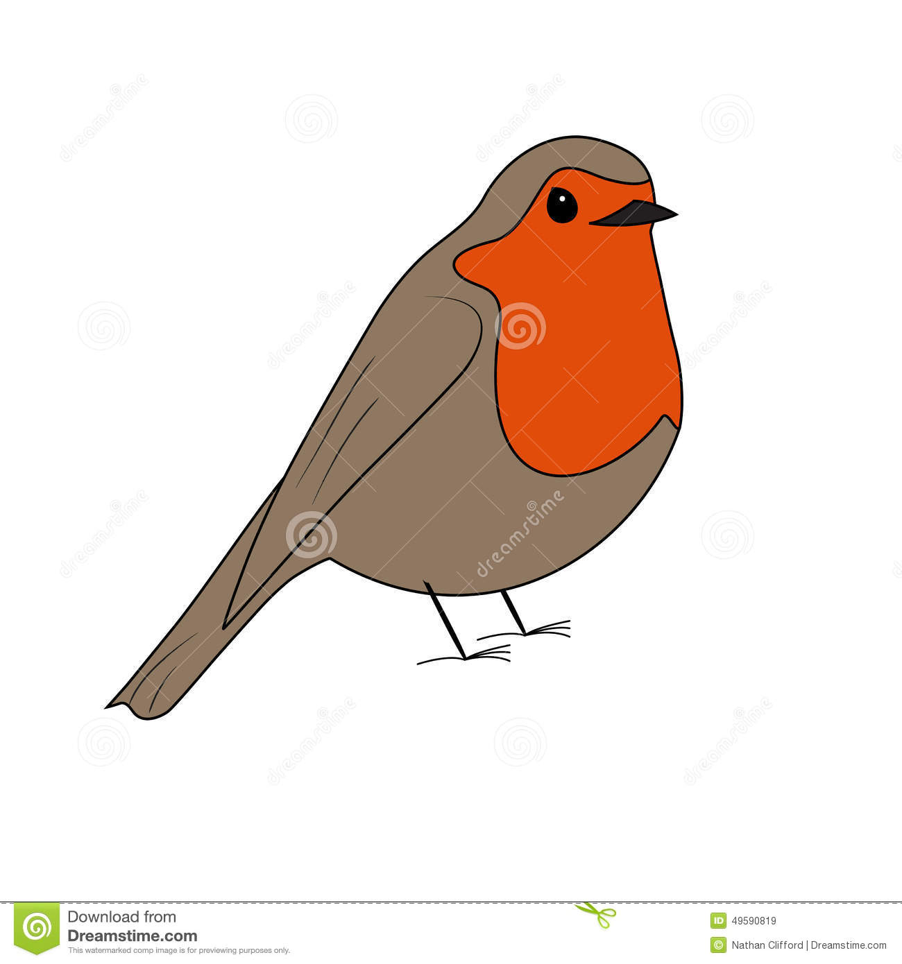Cartoon Robin Vector Stock Vector - Image: 49590819