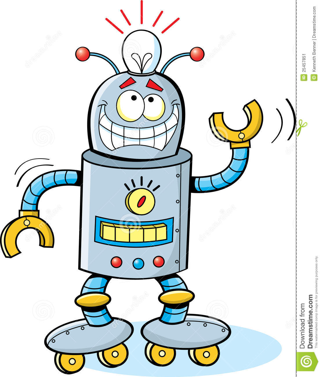 Cartoon Robot Stock Image - Image: 25457851