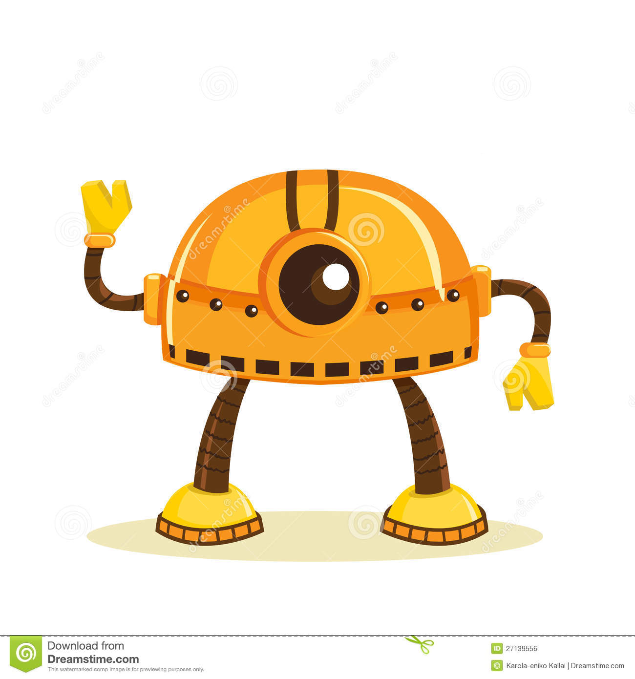 Cartoon Robot Royalty Free Stock Image - Image: 27139556