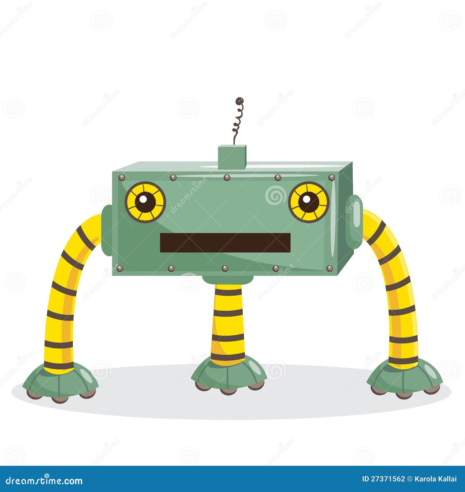 Cartoon Robot Toy : Cartoon robot stock photography image
