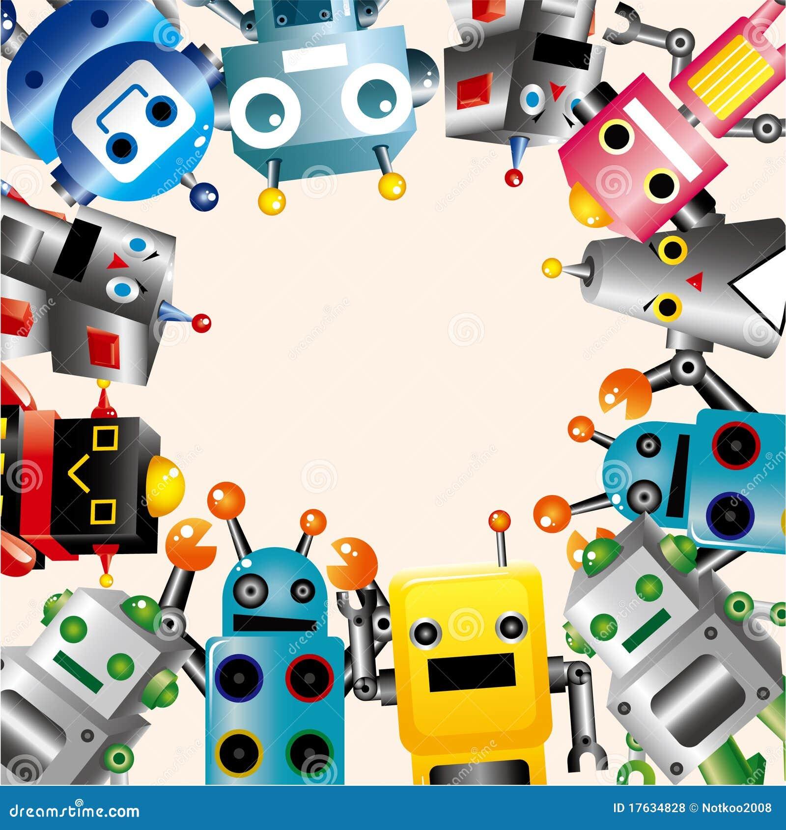 Cartoon Robot Card Roy...