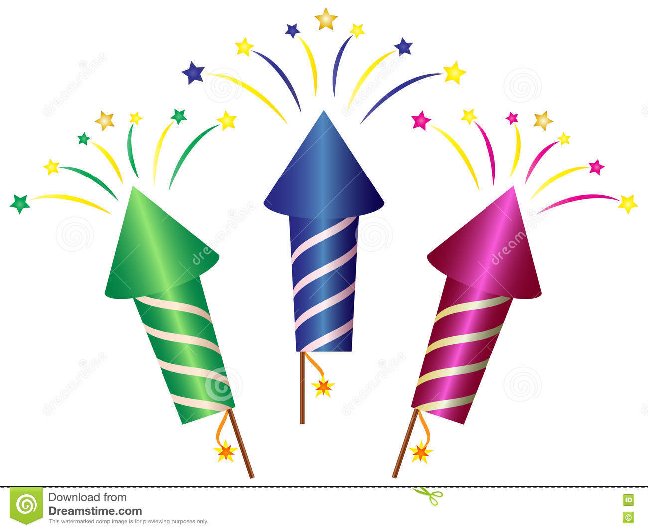 cartoon rocket fireworks clipart stock photo illustration of rh dreamstime com clip art fireworks animation clip art fireworks 2018