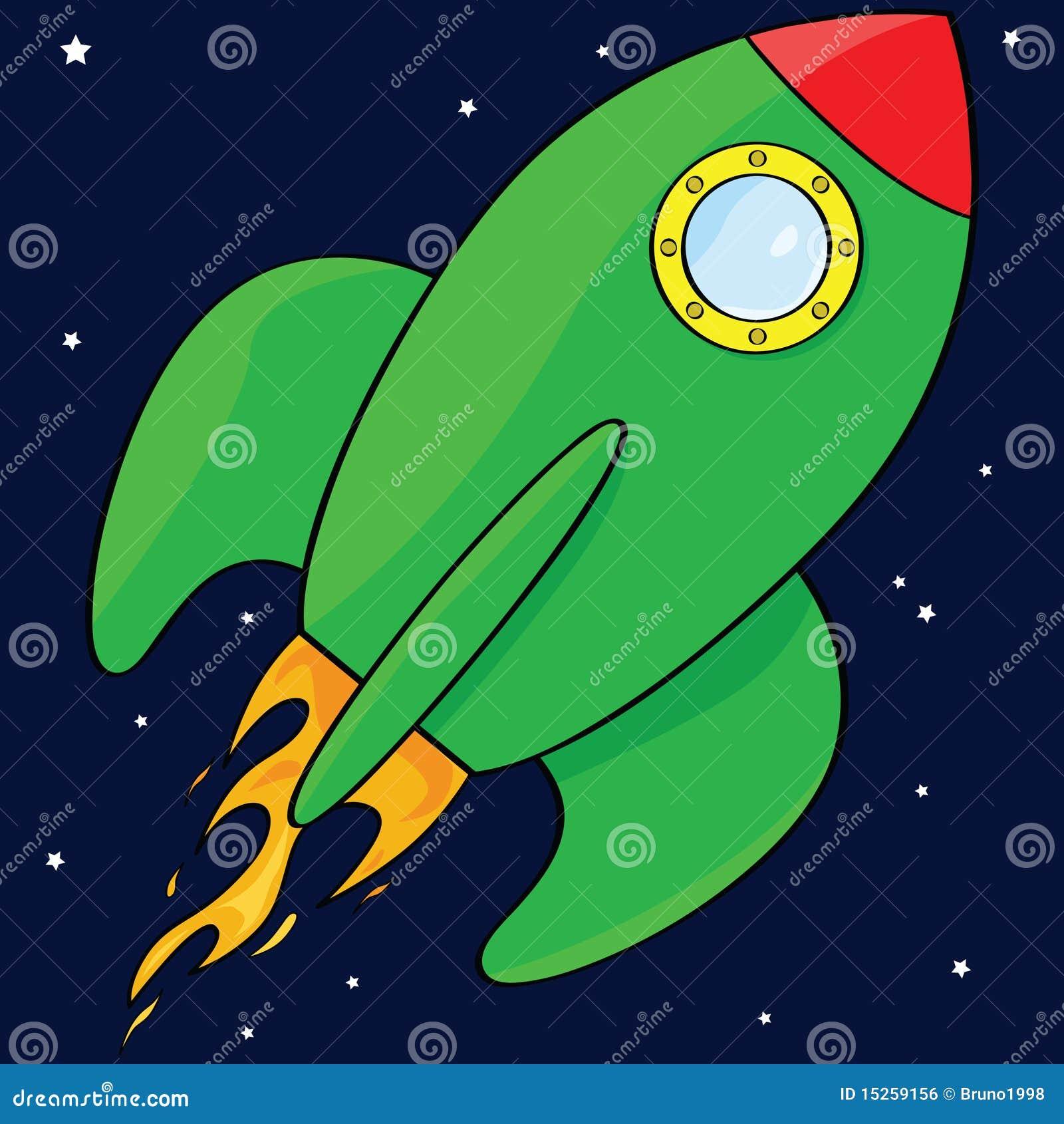 Cartoon Rocket Ship Royalty Free Stock Image - Image: 15259156
