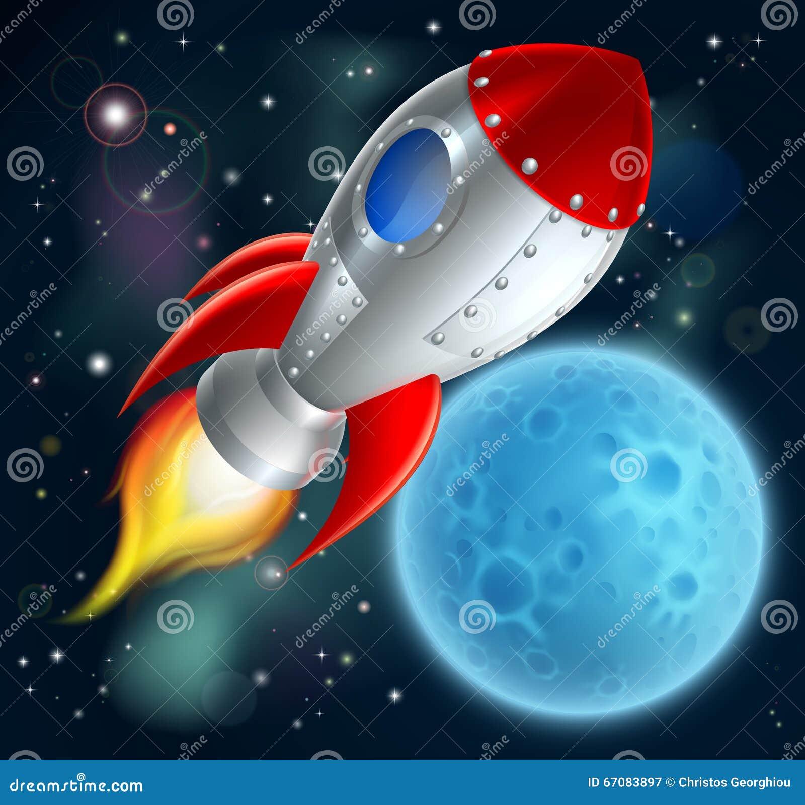 Space ship cartoon vector cartoondealer