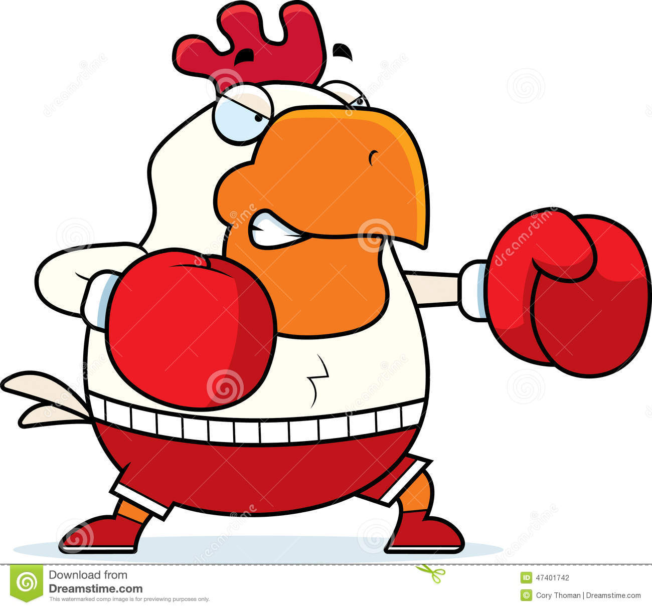cartoon rooster boxing stock vector illustration of chicken 47401742