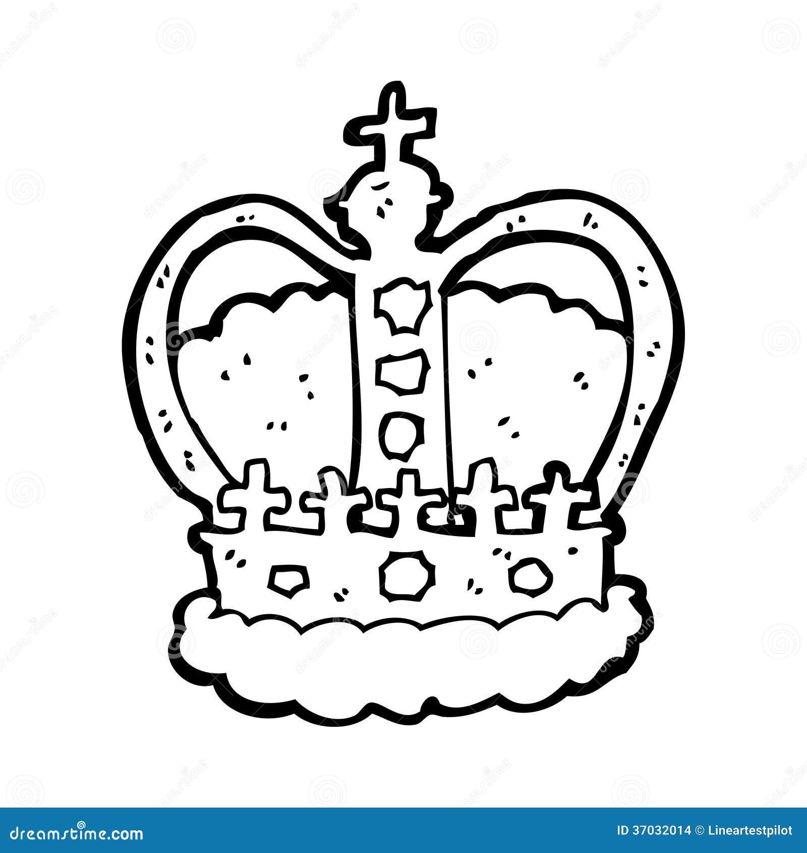 Cartoon Royal Crown Stock Illustration Illustration Of