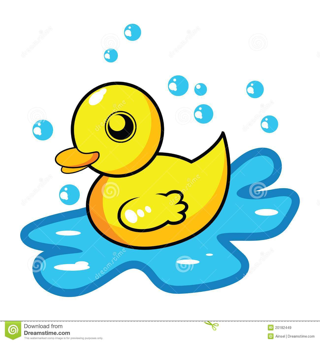 Cartoon Rubber Duck Royalty Free Stock Images - Image: 20182449