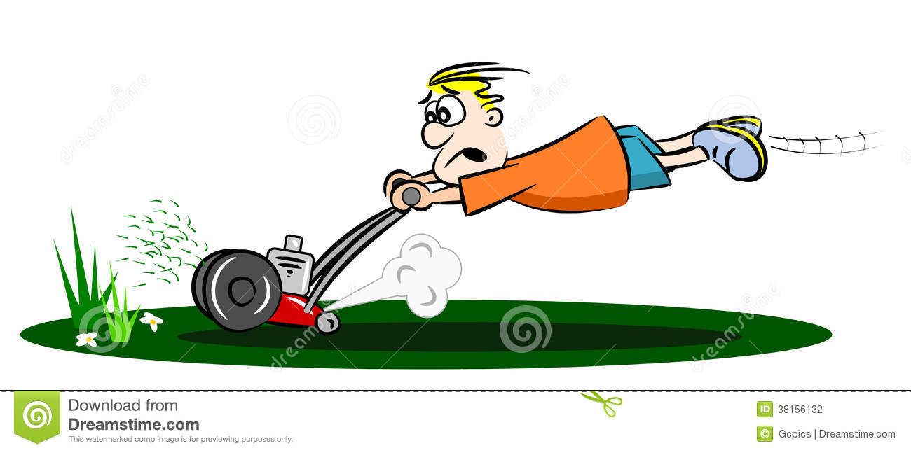 cartoon runaway lawnmower stock vector illustration of backyard 38156132 grass cutting clip art black and white guy cutting grass clipart