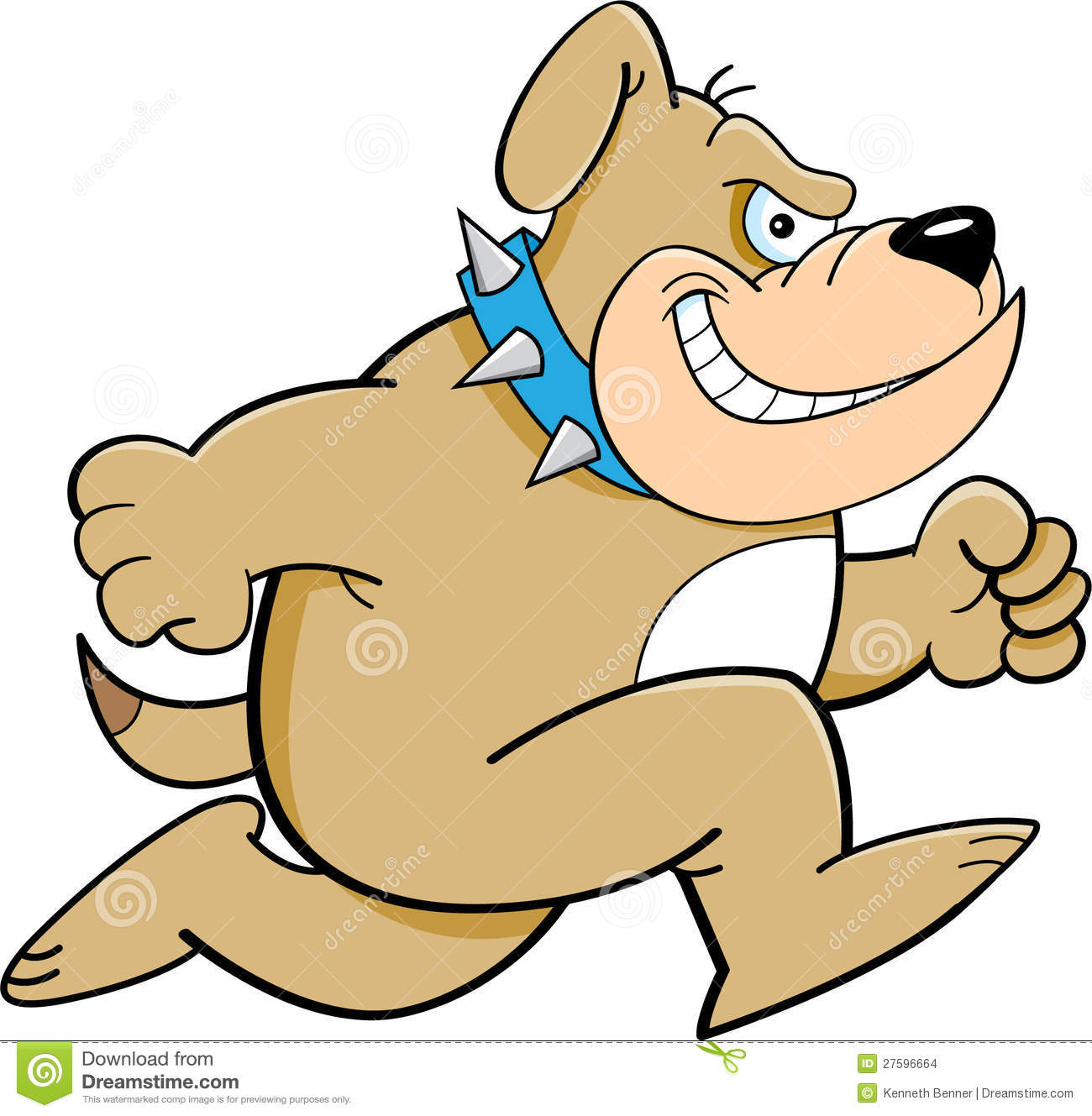 cartoon illustration of a bulldog running mr no pr no 2 991 2No Running Cartoon