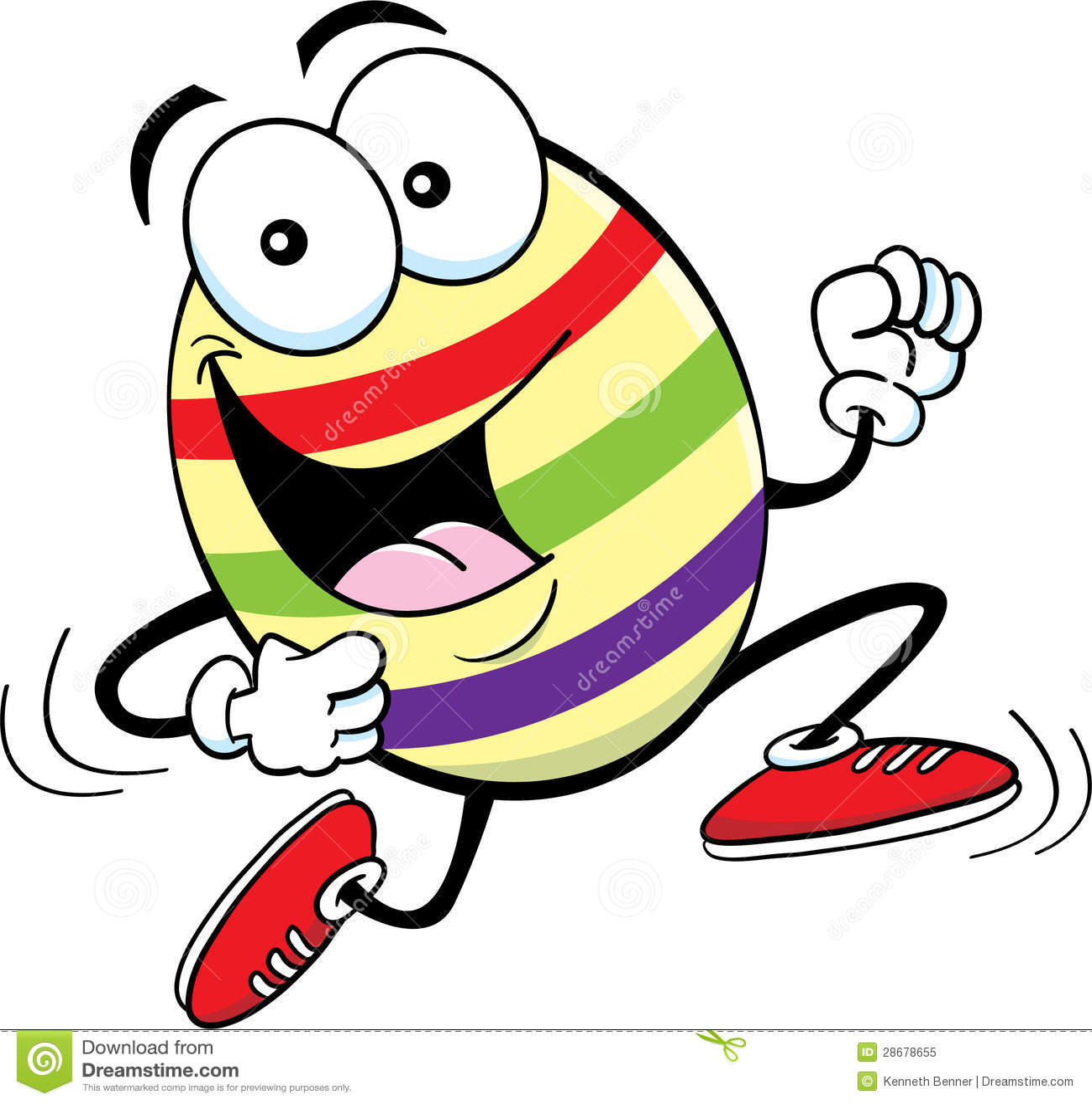 Running Easter Egg Stock Illustrations – 10 Running Easter Egg