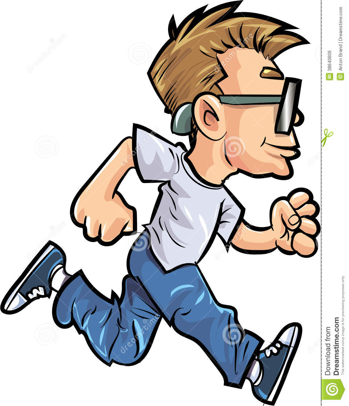 cartoon running man with glasses stock illustration illustration rh dreamstime com cartoon man running animation cartoon man running with briefcase