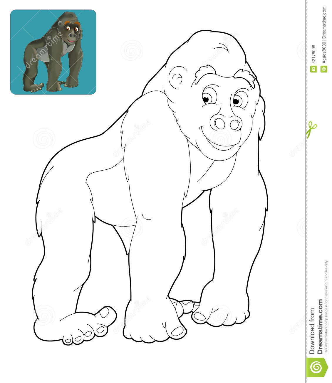 Cartoon Safari Coloring Page For The Children Royalty Free Stock Image Image 32178096