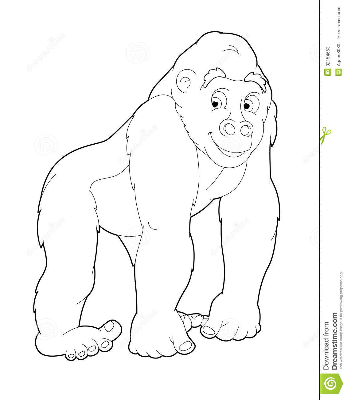 Safari Animals Coloring Pages: Illustration For The