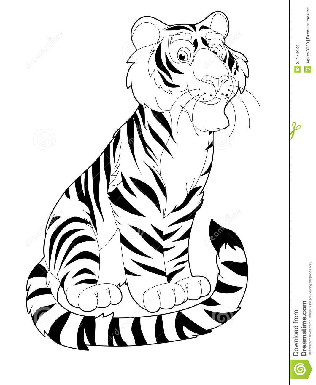 cartoon safari coloring page illustration for the children - Safari Coloring Pages