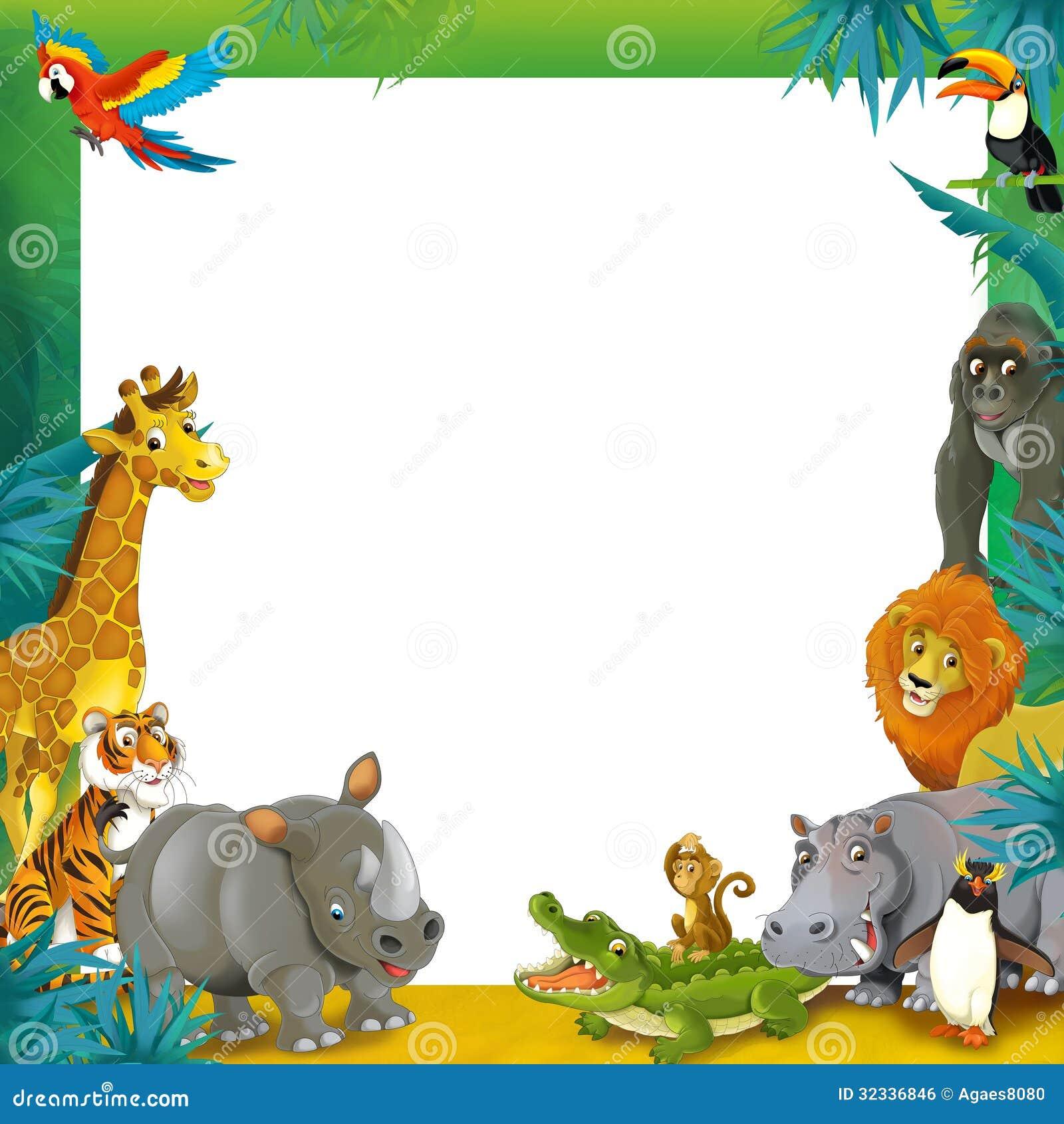 Jungle Animal Template
