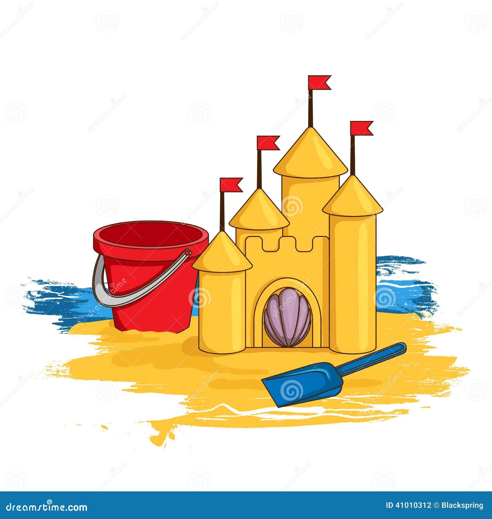 Cartoon Sand Castle Stock Vector. Illustration Of Cartoon