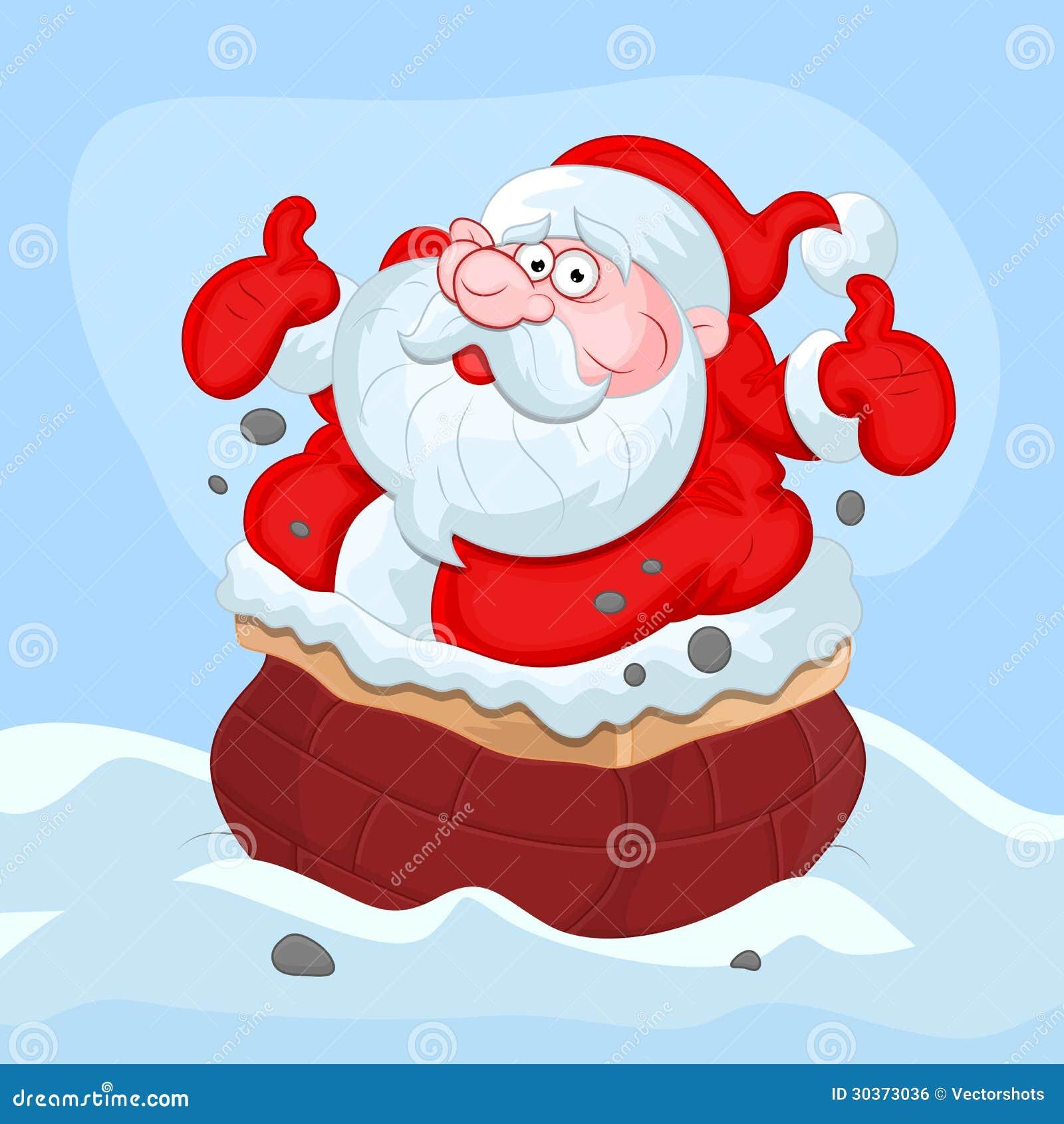 Cartoon Santa Claus - Christmas Vector Illustration Royalty Free ...