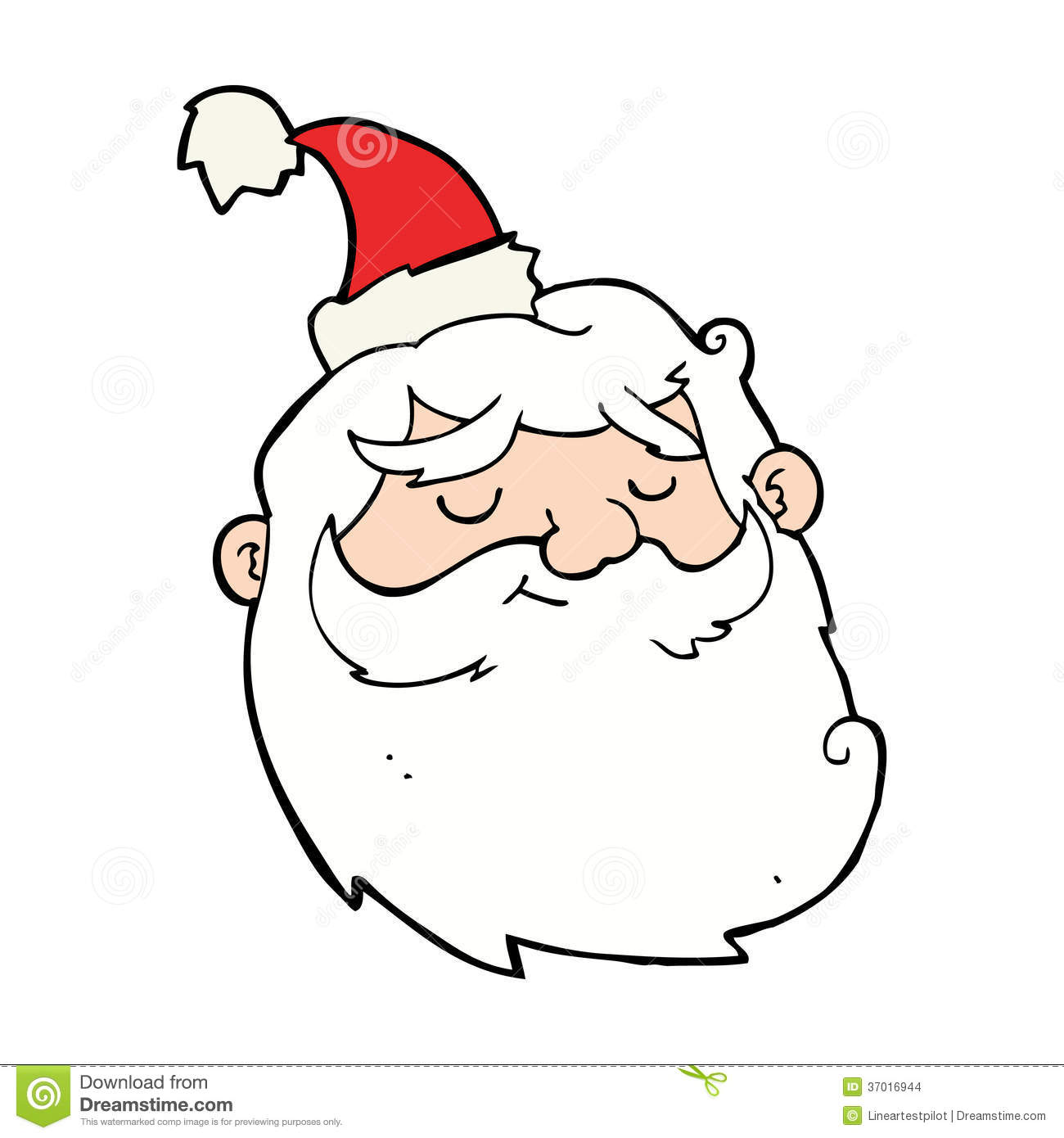Santa Claus Cartoon Face