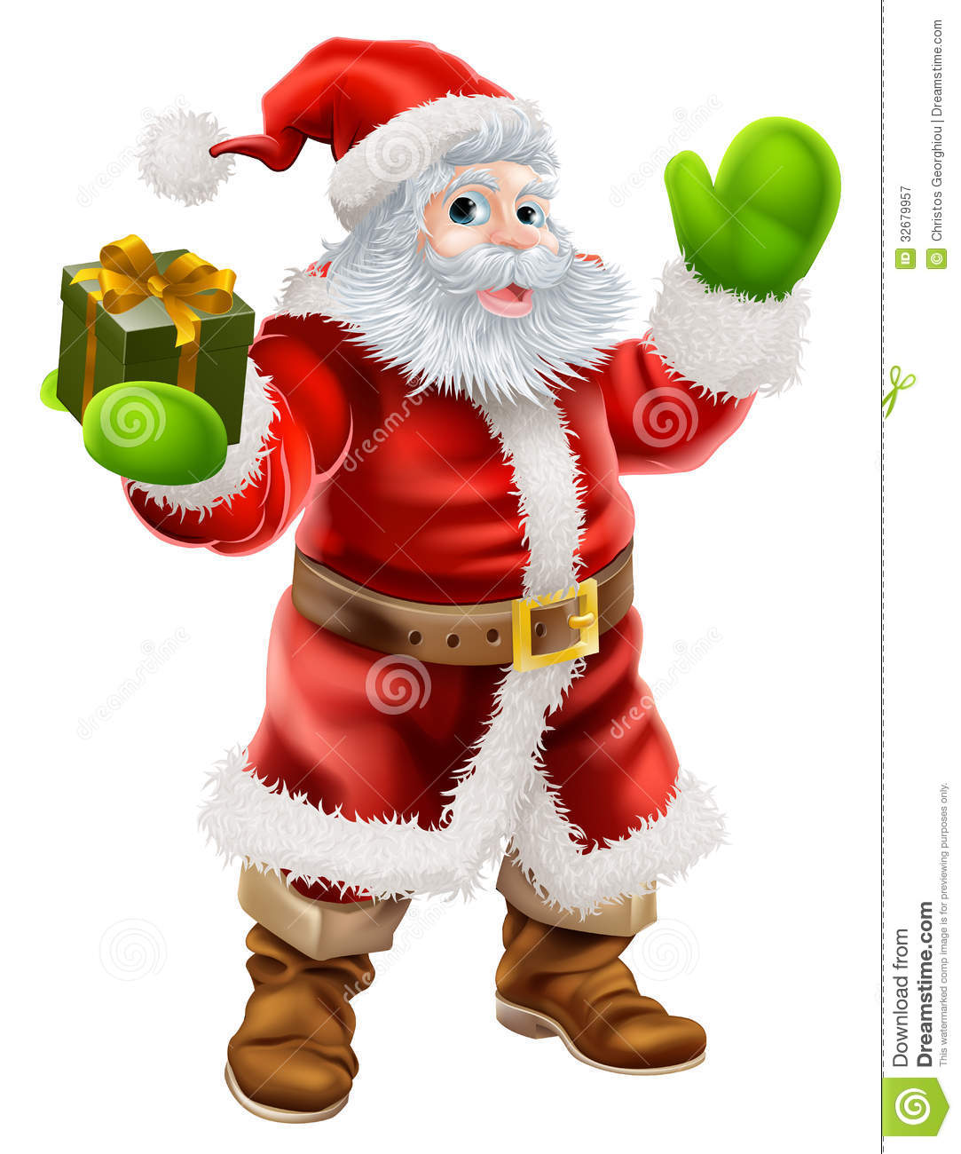 Cartoon santa claus royalty free stock photography image