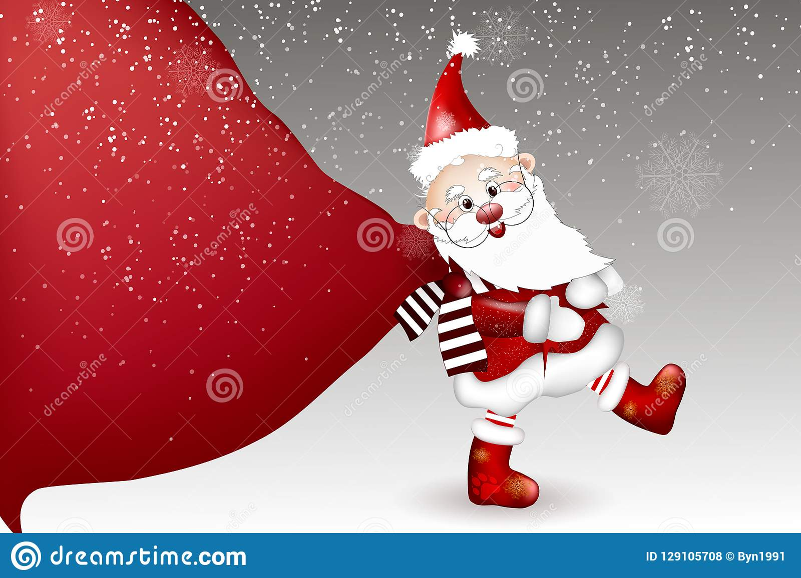2bdde1c69d8b3 Cartoon Of Santa Claus On A White Background. Stock Vector ...