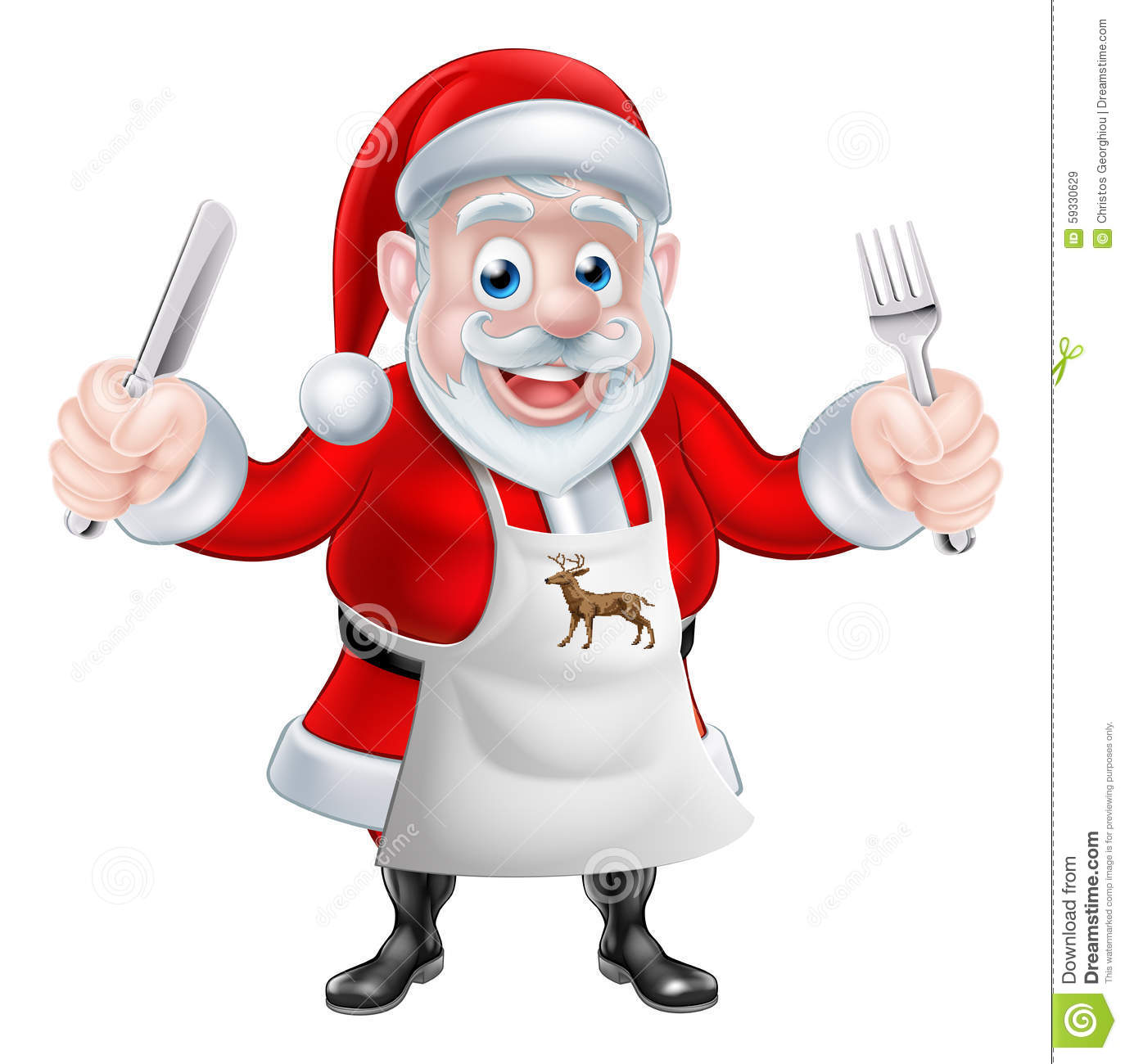 Cartoon Santa Cook Stock Vector