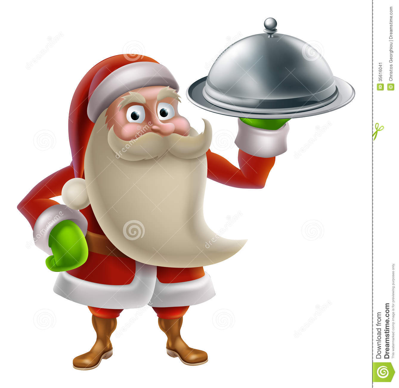 Cartoon santa cooking christmas dinner stock illustration - Cuisine de a a z noel ...